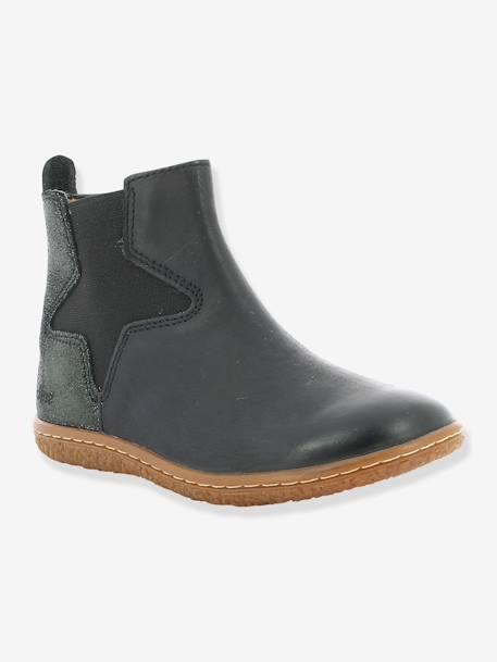 4b7d85863c4 Boots fille Vermillon KICKERS® MARINE+Noir 7 - vertbaudet enfant