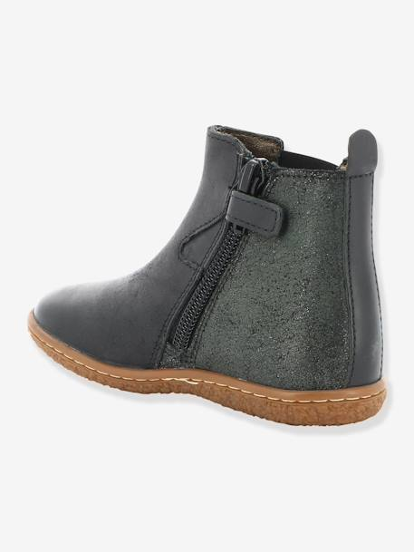 9ccb4bdff9460 Boots fille Vermillon KICKERS® MARINE+Noir 9 - vertbaudet enfant