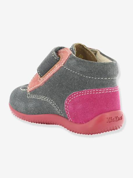 Bottines bébé fille Bono KICKERS® à patte scratch Gris 3 - vertbaudet enfant