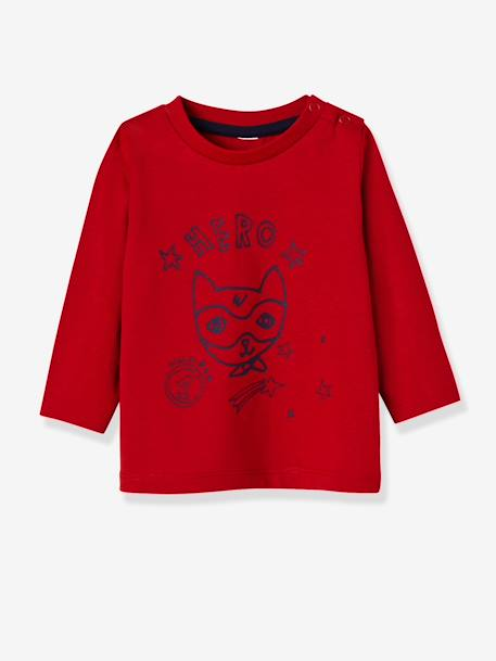 Lot de 2 T-shirts bébé garçon manches longues LOT CARAMEL+Lot jaune moutarde+LOT MARINE GRISE+Lot Rouge 21 - vertbaudet enfant