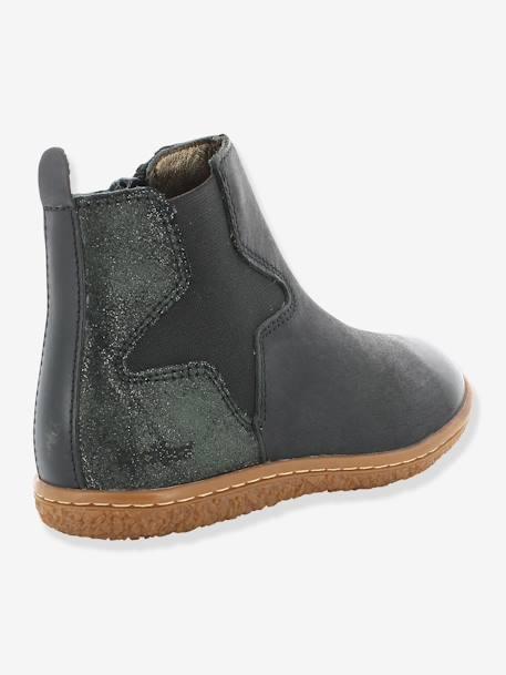50a47d5227198 Boots fille Vermillon KICKERS® MARINE+Noir 8 - vertbaudet enfant