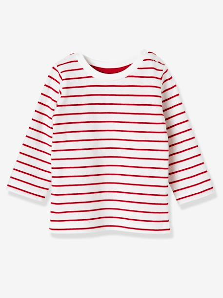 Lot de 2 T-shirts bébé garçon manches longues LOT CARAMEL+Lot jaune moutarde+LOT MARINE GRISE+Lot Rouge 22 - vertbaudet enfant