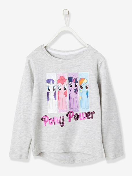 T-shirt fille my little pony® inscription sequins Gris chiné 1 - vertbaudet enfant