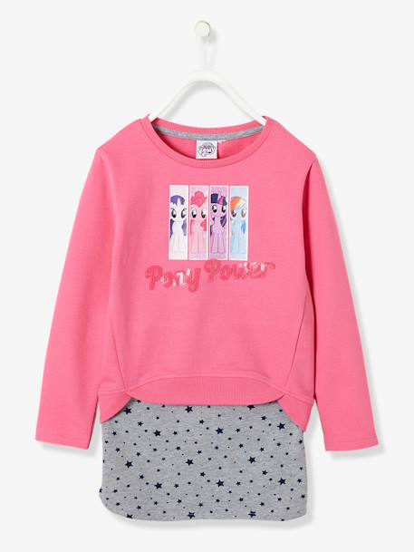 Ensemble sweat + jupe fille My little poney® en molleton Rose 1 - vertbaudet enfant
