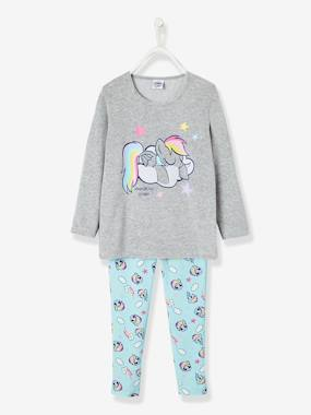 3a49fee29d82c Pyjama fille My little Pony® gris   bleu vertbaudet