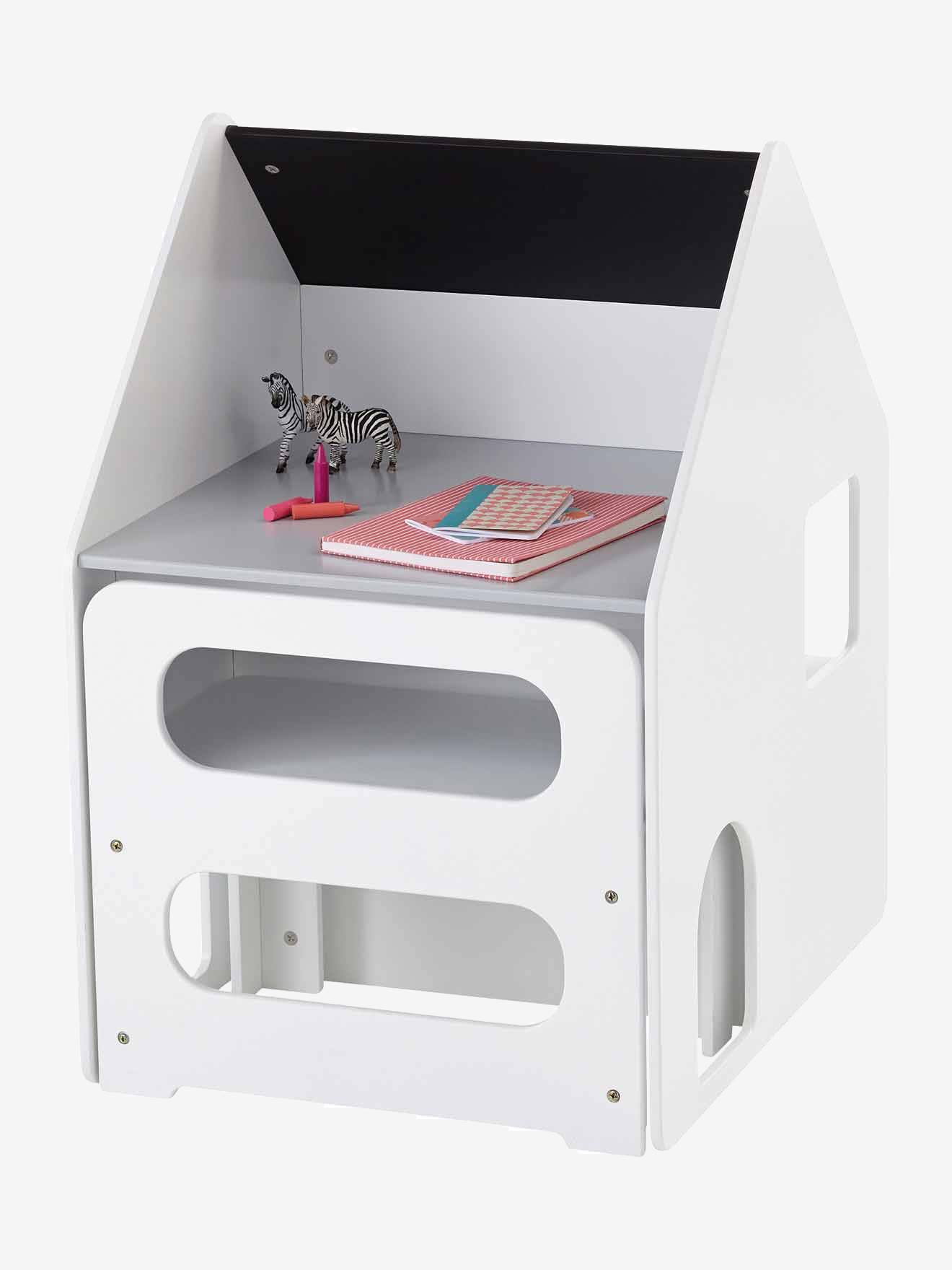 Combiné maternelle bureau + chaise Casaburo blanc/gris