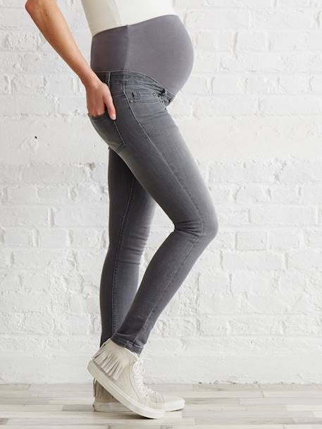 Jean slim stretch de grossesse entrejambe 85 Denim black+Denim brut+Denim gris+Stone 14 - vertbaudet enfant