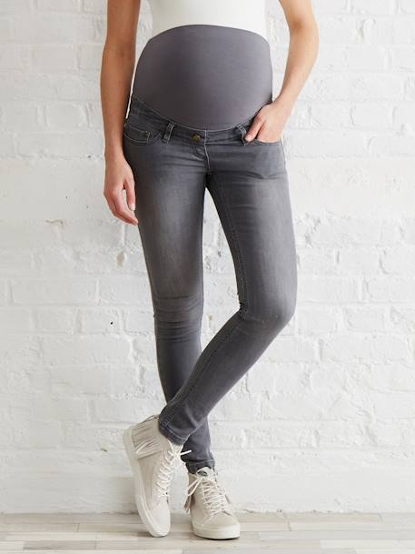 Jean slim stretch de grossesse entrejambe 85 Denim black+Denim brut+Denim gris+Stone 11 - vertbaudet enfant