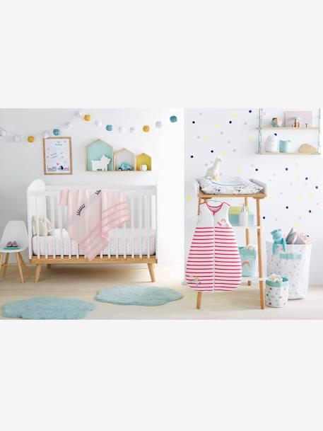 lit b b barreaux ligne confetti blanc vertbaudet. Black Bedroom Furniture Sets. Home Design Ideas