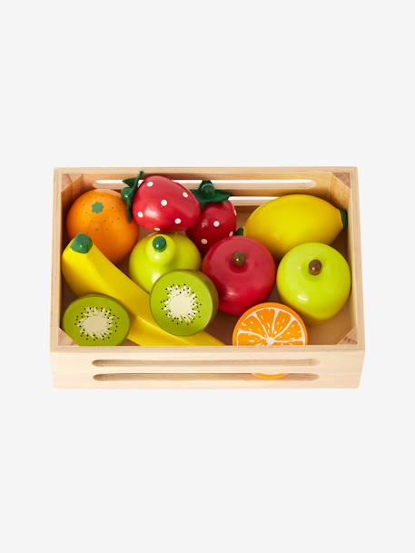 cagette de fruits en bois pour dinette multicolore. Black Bedroom Furniture Sets. Home Design Ideas