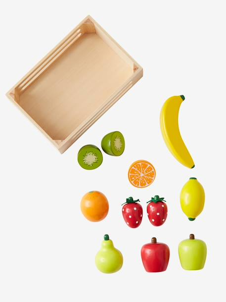 cagette de fruits en bois pour dinette multicolore vertbaudet. Black Bedroom Furniture Sets. Home Design Ideas