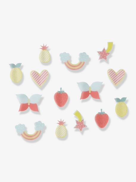Lot de 14 décors en relief Happy Multicolore 1 - vertbaudet enfant