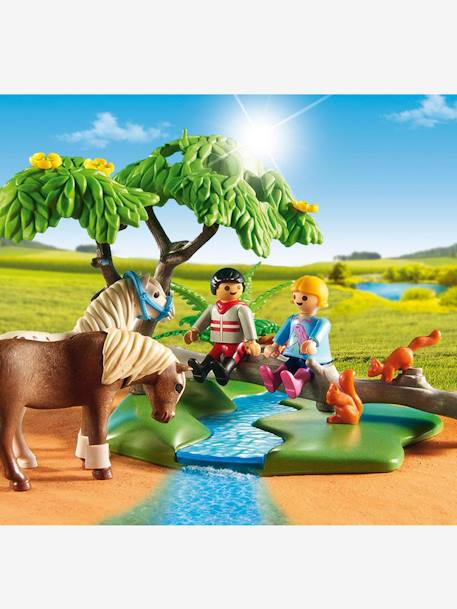6947 Cavalier avec poney et cheval Playmobil Country Multicolore 3 - vertbaudet enfant