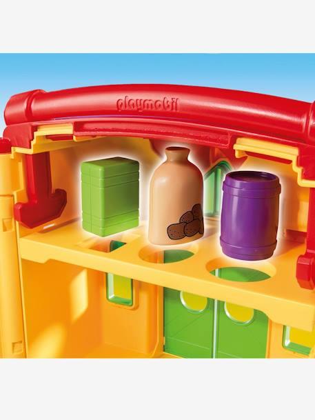 6962 ferme transportable avec animaux playmobil 1 2 3 jaune multicolore playmobil. Black Bedroom Furniture Sets. Home Design Ideas