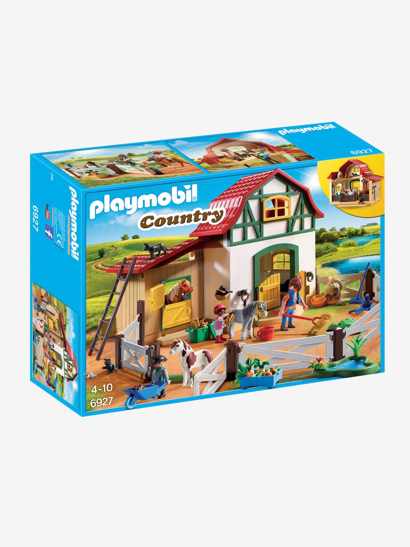 6927 Country Multicolore Club Playmobil Poney oxCBde