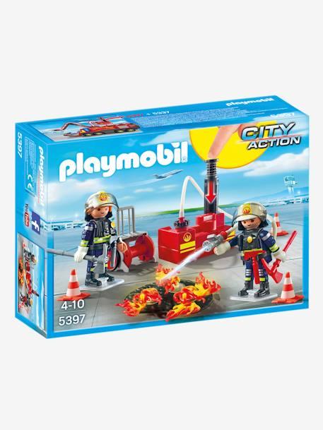 5397 pompier avec bouche dincendie playmobil multicolore 1 vertbaudet enfant - Playmobil Pompier