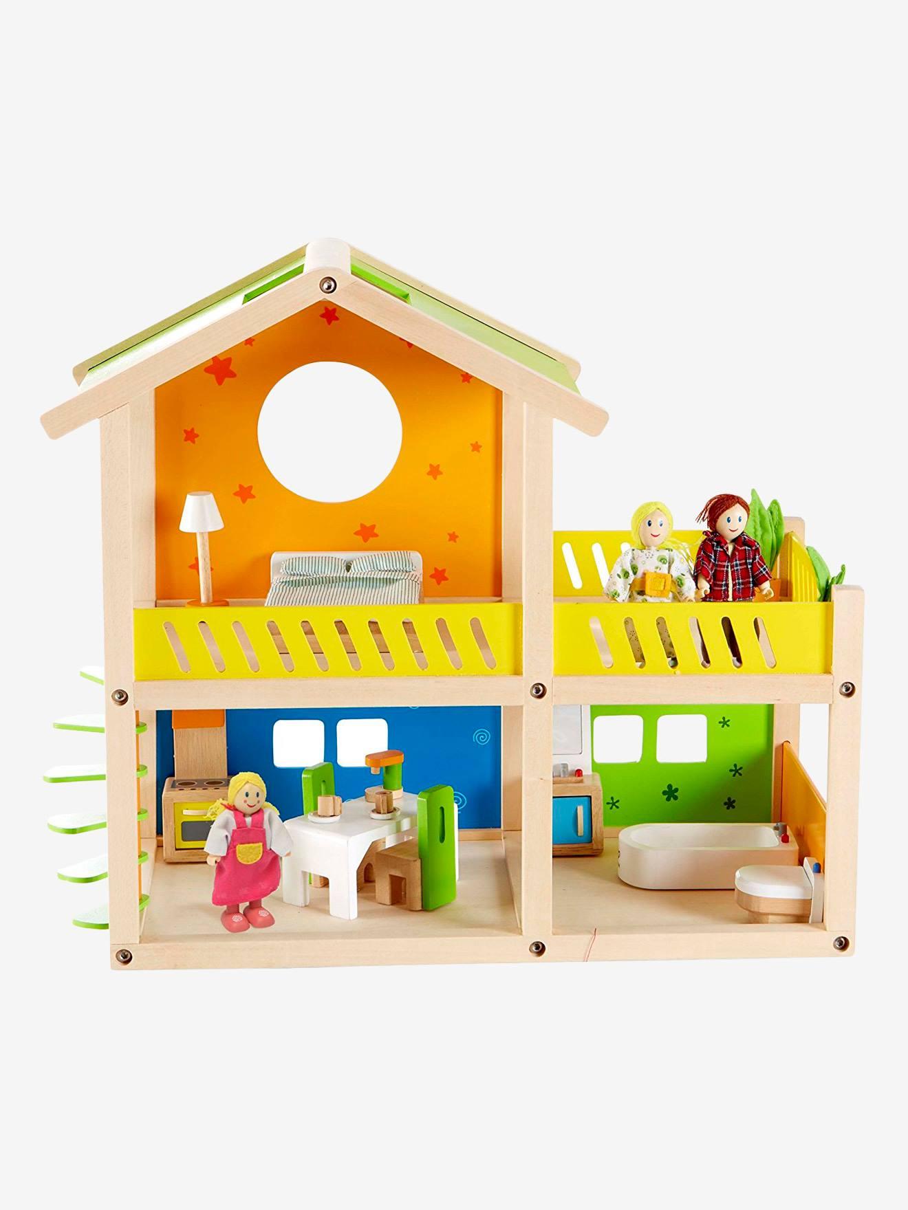 Petite maison joyeuse en bois HAPE multicolore