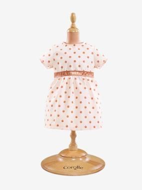 SOLDES - Robe à pois Corolle pour poupon 36 cm rose/doré