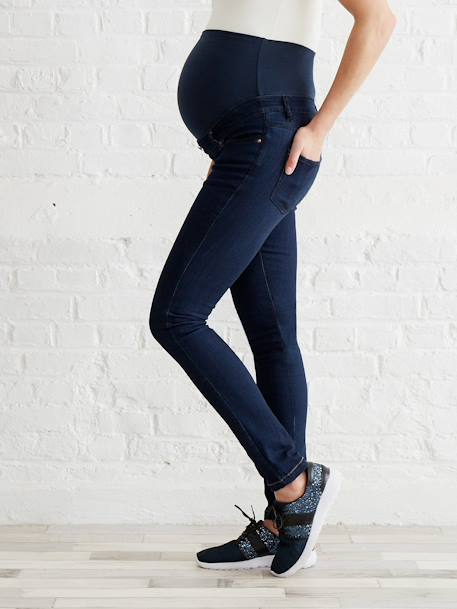 Jean slim stretch de grossesse entrejambe 85 Denim black+Denim brut+Denim gris+Stone 8 - vertbaudet enfant
