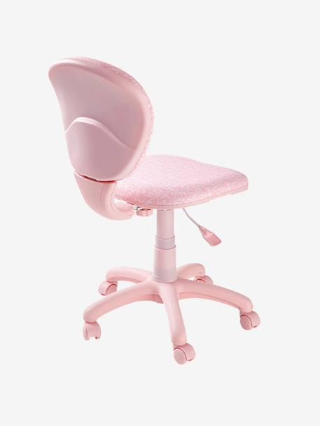 Chaise de bureau roulettes rose fleurs vertbaudet for Bureau enfant vertbaudet