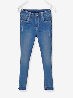 Fille-Pantalon-Jean slim fille tour de hanches LARGE