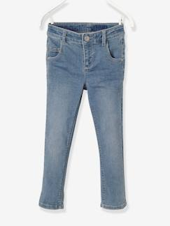 Fille-Pantalon-Pantacourt fille slim en denim tour de hanches MEDIUM morphologik