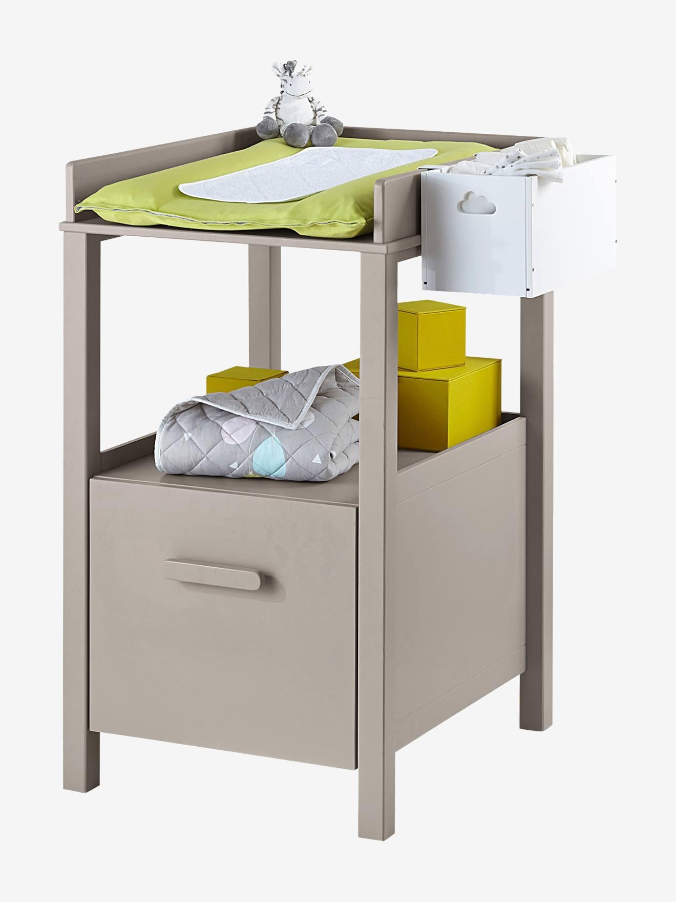 table langer avec tiroir variety blanc vertbaudet. Black Bedroom Furniture Sets. Home Design Ideas