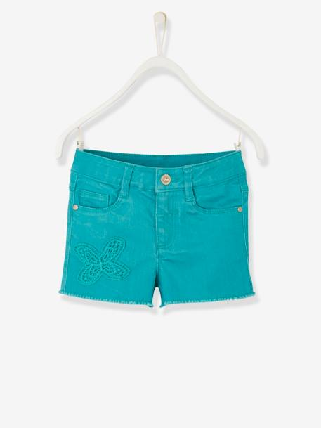Short fille brodé Aqua+Blanc+ORANGE+Rose blush 1 - vertbaudet enfant