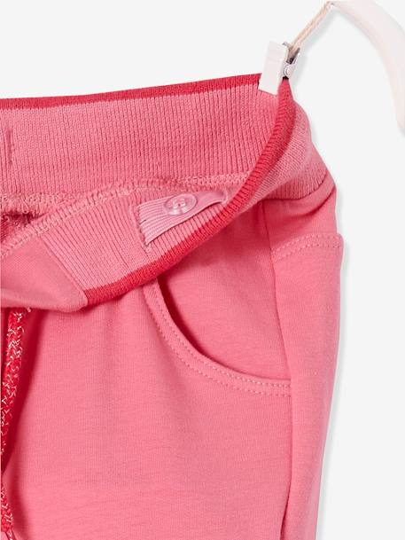 Pantalon fille en molleton Collection Maternelle Marine+Rose 10 - vertbaudet enfant