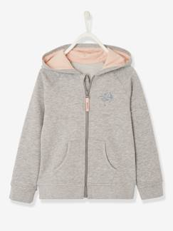 Fille-Sweat fille zippé