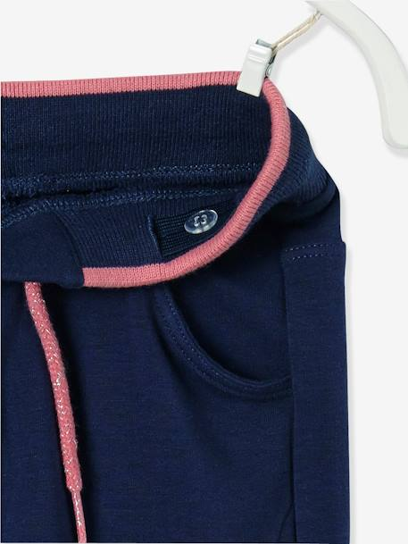 Pantalon fille en molleton Collection Maternelle Marine+Rose 5 - vertbaudet enfant