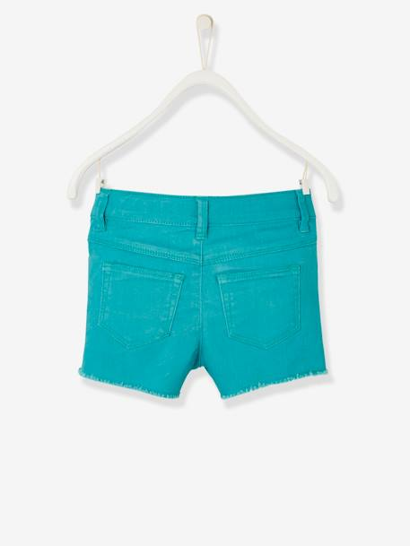 Short fille brodé Aqua+Blanc+ORANGE+Rose blush 2 - vertbaudet enfant