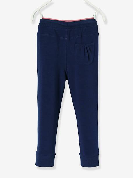Pantalon fille en molleton Collection Maternelle Marine+Rose 2 - vertbaudet enfant