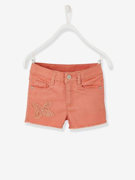 Short fille brodé Aqua+Blanc+ORANGE+Rose blush 15 - vertbaudet enfant