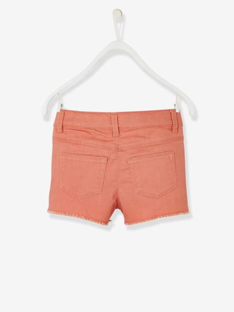 Short fille brodé Aqua+Blanc+ORANGE+Rose blush 16 - vertbaudet enfant