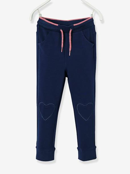 Pantalon fille en molleton Collection Maternelle Marine+Rose 1 - vertbaudet enfant