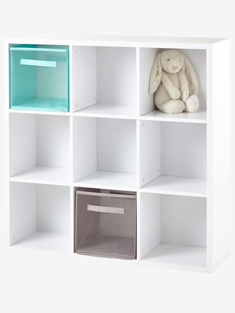 Meuble de rangement 9 cases blanc vertbaudet - Meuble rangement enfant ...