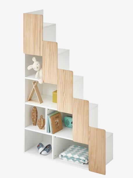 Escalier Avec Rangement Pour Combiné Easyspace Blanc/Bois - Vertbaudet