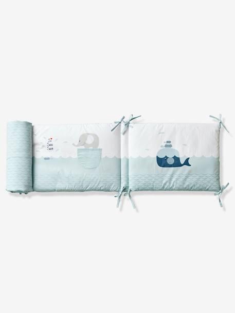 tour de lit balein eau bleu clair vertbaudet. Black Bedroom Furniture Sets. Home Design Ideas