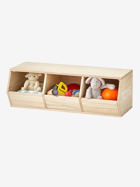 Meuble 3 Bacs Toys Bois Vertbaudet