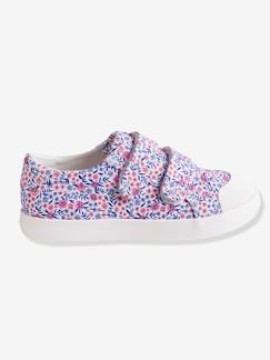 Chaussures-Chaussures fille 23-38-Baskets scratchées fille en toile