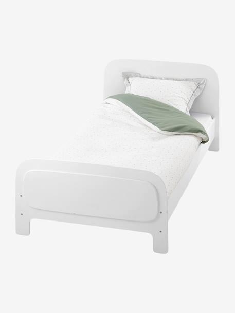 lit volutif enfant pastille avec sommier blanc vertbaudet. Black Bedroom Furniture Sets. Home Design Ideas