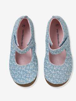 Chaussures-Chaussures fille 23-38-Chaussons babies fille en toile