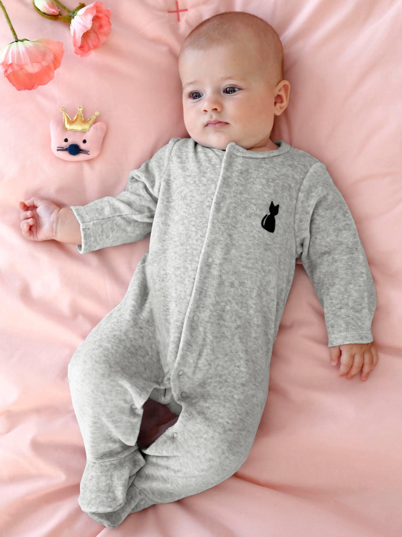 pyjama bebe velours dos fantaisie