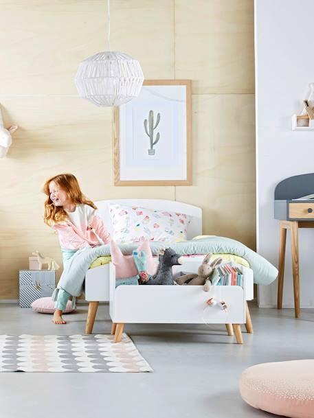 lit enfant ligne confetti blanc bois vertbaudet. Black Bedroom Furniture Sets. Home Design Ideas