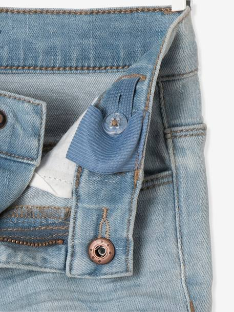 Jean slim fille 7/8 avec badges sequins Double stone 8 - vertbaudet enfant
