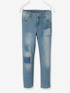 Fille-Pantalon-Jean boyfriend fille tour de hanches LARGE