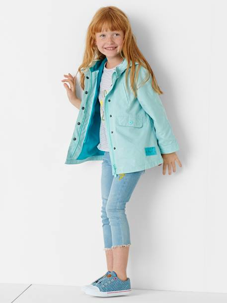 Jean slim fille 7/8 avec badges sequins Double stone 2 - vertbaudet enfant