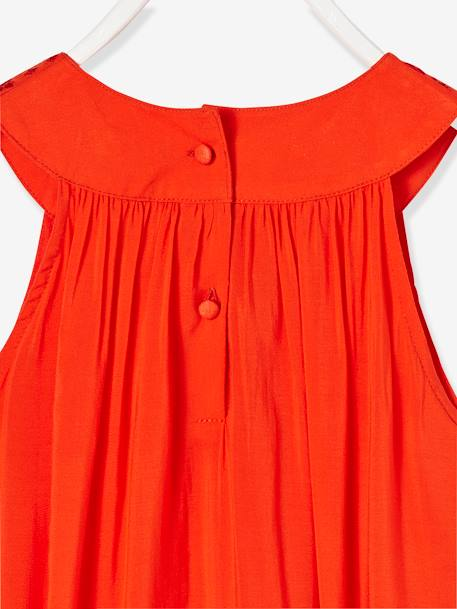 Robe longue fille encolure bijoux Orange vif 3 - vertbaudet enfant