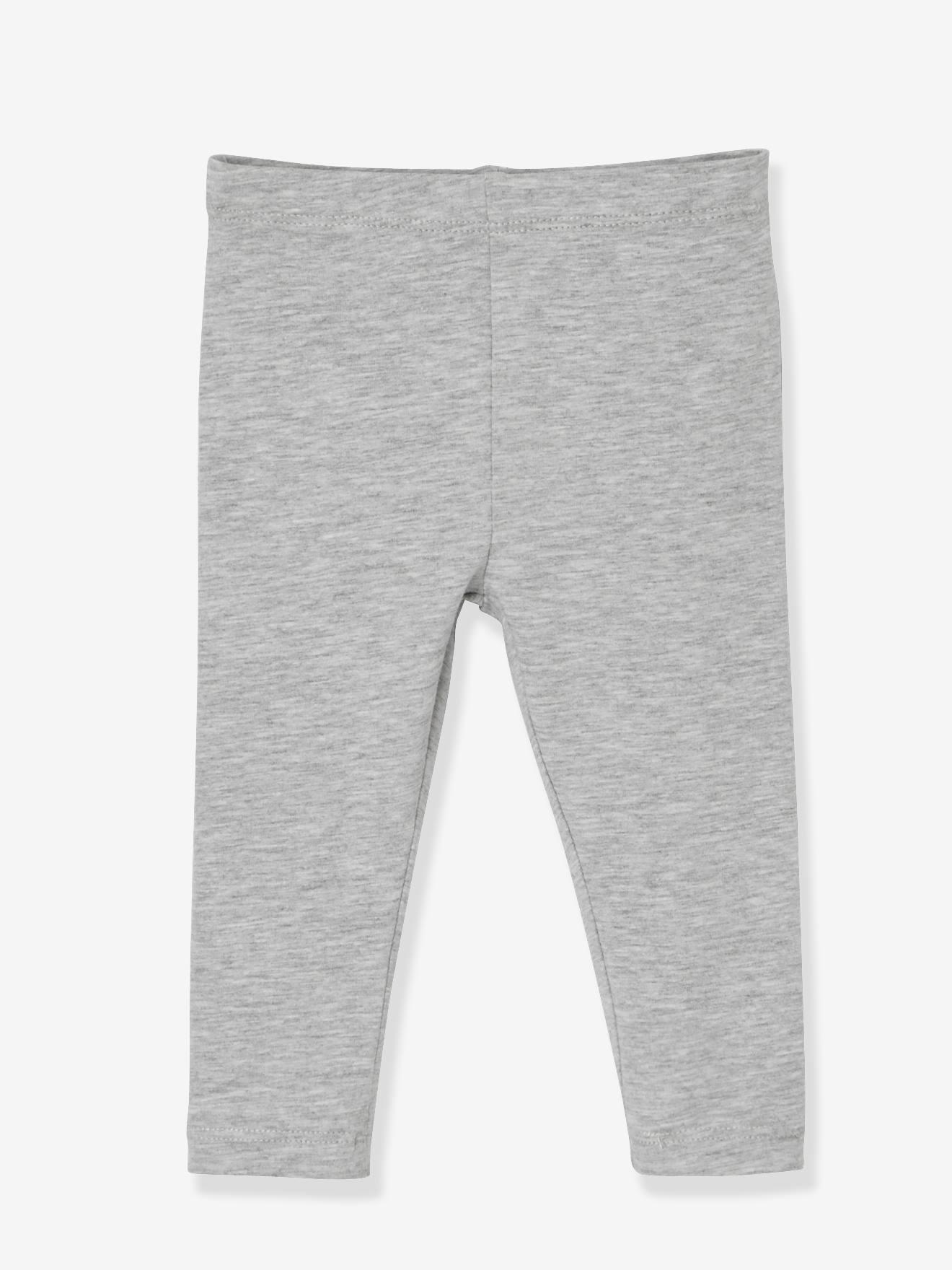 VERTBAUDET Lot de 2 leggings longs b/éb/é fille Lot marine gris/é 24M 86CM